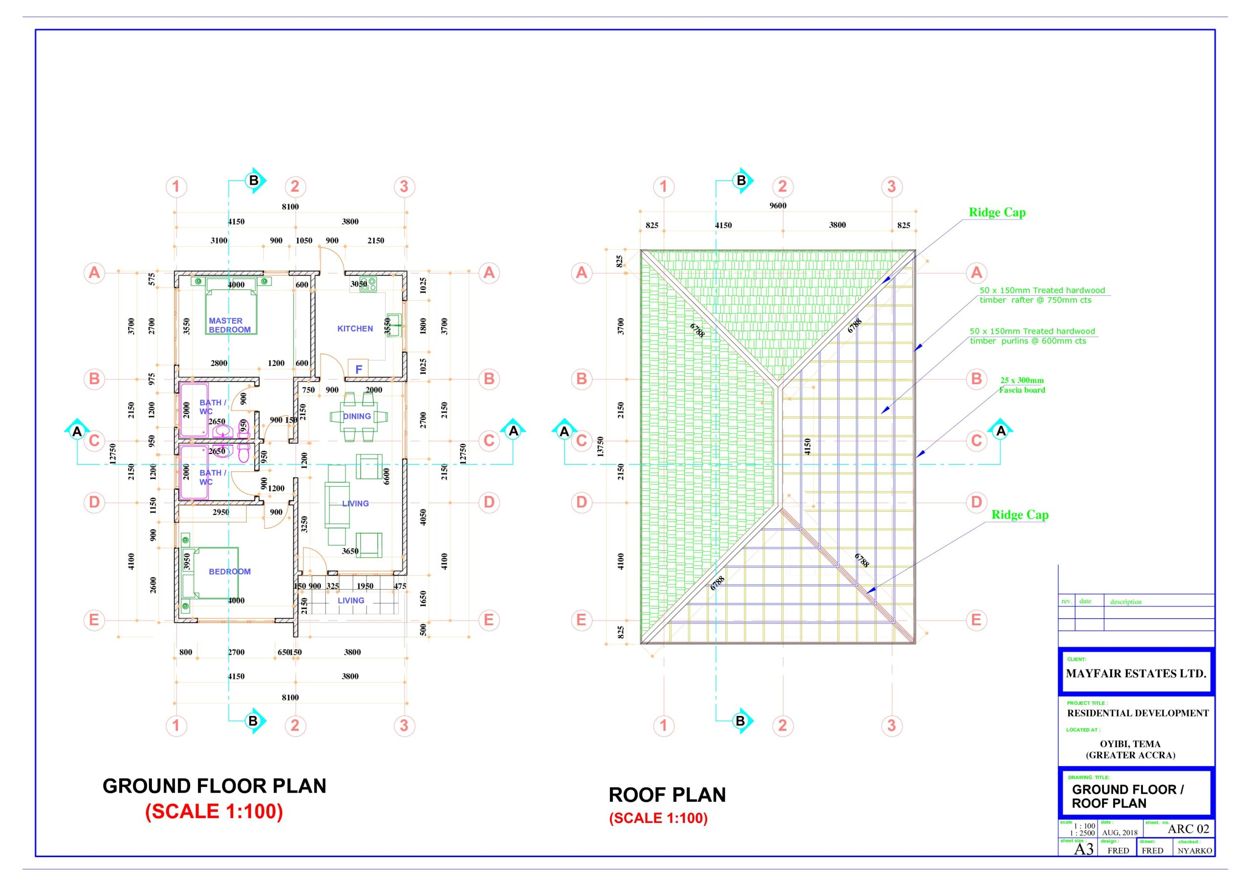 Ground and Roof Plan