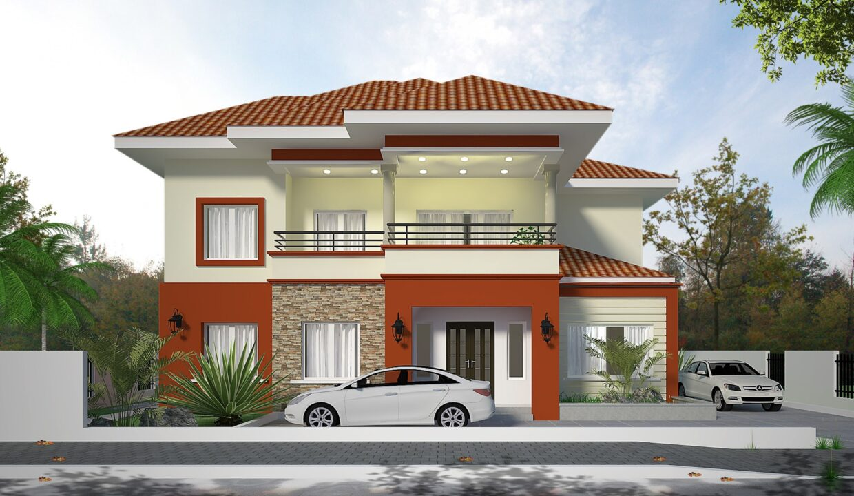 4 Bedroom STOREY BUILDING Front View 1a