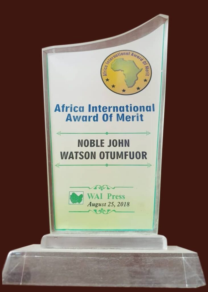 AFRICA INTERNATIONAL AWARD OF MERIT 2018